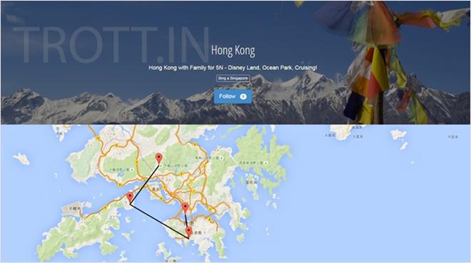 通った旅行ルートも設定出来る旅行者の為のブログサービス・TROTT.IN